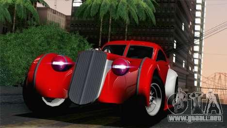 GTA V Truffade Z-Type [IVF] para GTA San Andreas vista posterior izquierda