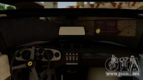 Ferrari 365 GTS4 Daytona (US-spec) 1971 para visión interna GTA San Andreas