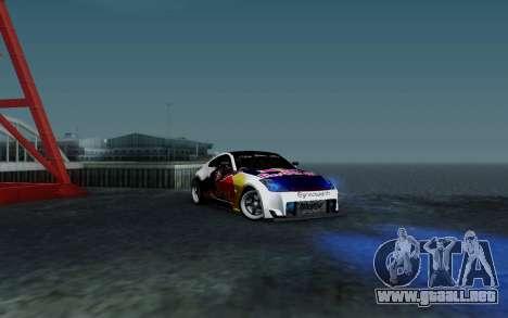 Nissan 350Z Red Bull para vista lateral GTA San Andreas
