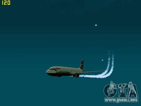 Boeing 737-800 British Airways para GTA San Andreas left