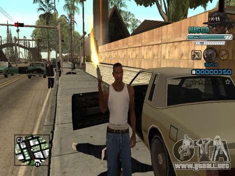 C-HUD Hombre en una Tapa para GTA San Andreas sucesivamente de pantalla