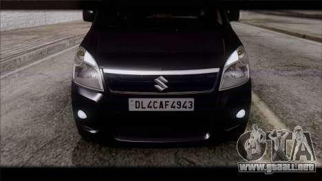 Suzuki Wagon R 2010 para GTA San Andreas vista hacia atrás