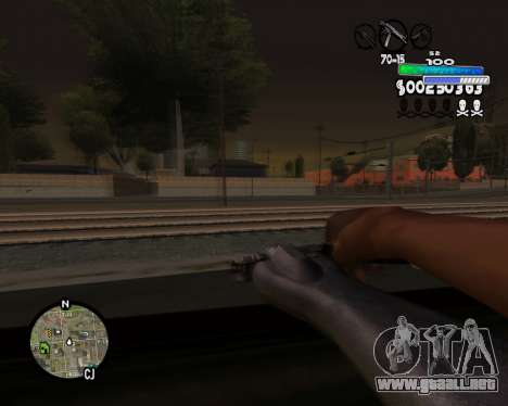 С-HUD Metro para GTA San Andreas sucesivamente de pantalla