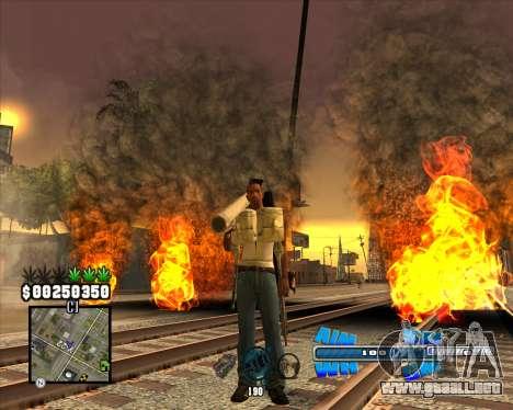 C-HUD Big Cull para GTA San Andreas segunda pantalla