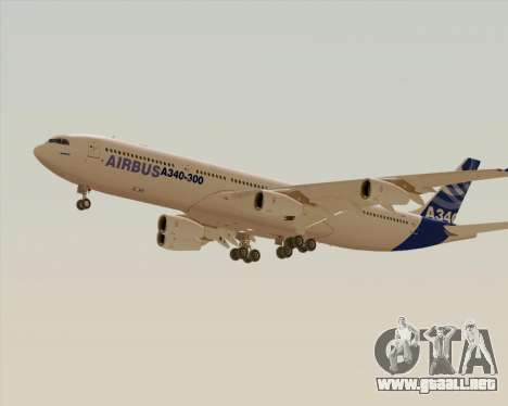 Airbus A340-300 Airbus S A S House Livery para la visión correcta GTA San Andreas