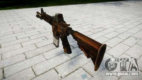 Tácticas de asalto M4 rifle de destino para GTA 4 segundos de pantalla