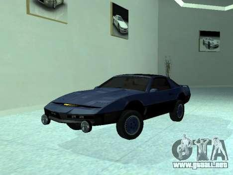 Pontiac Trans-Am K. R. R. R. para vista lateral GTA San Andreas