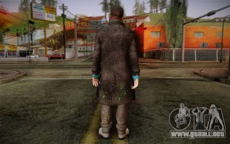 Aiden Pearce from Watch Dogs v3 para GTA San Andreas segunda pantalla