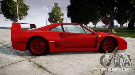 Ferrari F40 1987 [EPM] Tricolore para GTA 4 left
