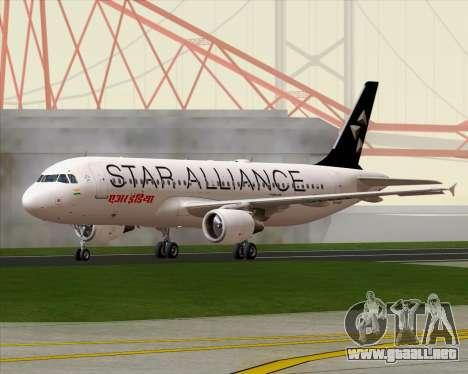 Airbus A320-200 Air India (Star Alliance Livery) para la visión correcta GTA San Andreas