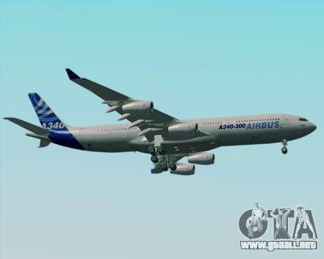 Airbus A340-300 Airbus S A S House Livery para la vista superior GTA San Andreas