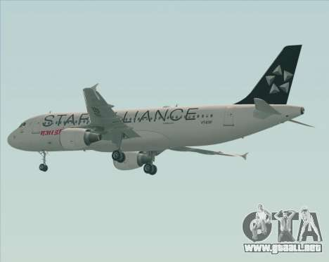 Airbus A320-200 Air India (Star Alliance Livery) para GTA San Andreas