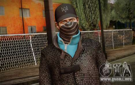 Aiden Pearce from Watch Dogs v3 para GTA San Andreas tercera pantalla