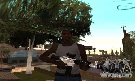 Chrome M4 para GTA San Andreas segunda pantalla