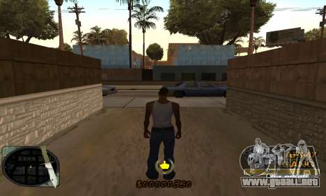 C-HUD Army Gang para GTA San Andreas segunda pantalla