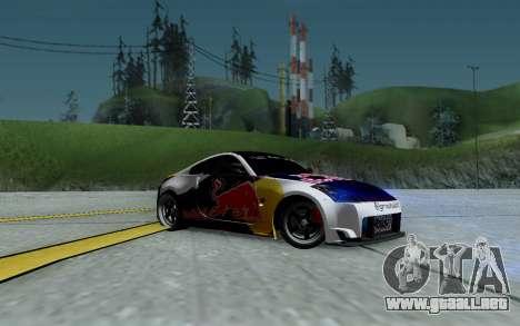 Nissan 350Z Red Bull para vista inferior GTA San Andreas