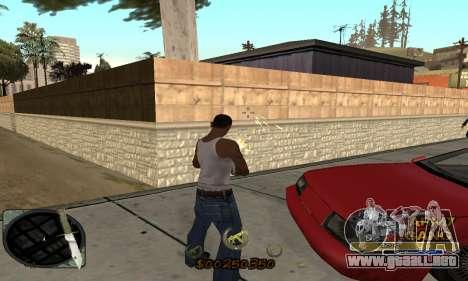 C-HUD Army Gang para GTA San Andreas tercera pantalla