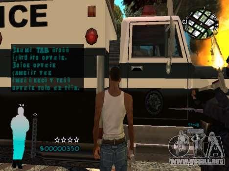 FBI HUD para GTA San Andreas sexta pantalla