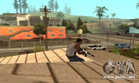 Chrome M4 para GTA San Andreas tercera pantalla