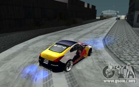 Nissan 350Z Red Bull para la vista superior GTA San Andreas