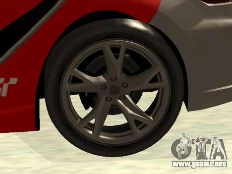 Nissan 370 Z Z34 2010 Ajustables para GTA San Andreas interior