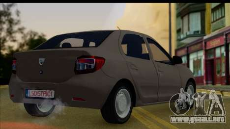 Dacia Logan 2013 para GTA San Andreas left