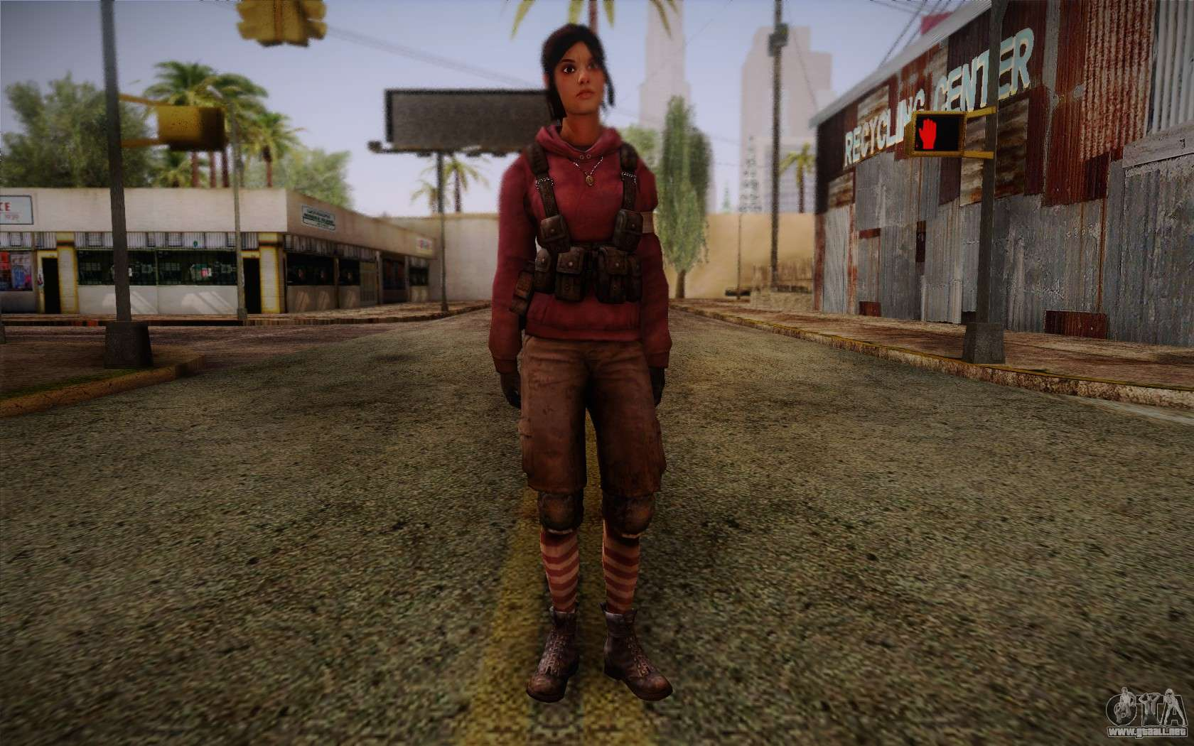 Zoey from Left 4 Dead Beta for GTA San Andreas