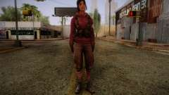 Zoey from Left 4 Dead Beta para GTA San Andreas