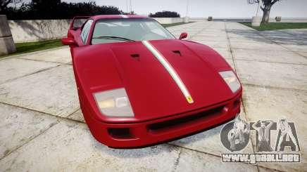 Ferrari F40 1987 [EPM] Tricolore para GTA 4