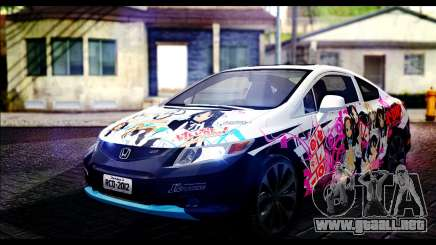 Honda Civic SI 2012 Itasha K-ON para GTA San Andreas