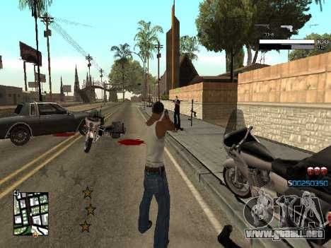 Simple C-HUD para GTA San Andreas tercera pantalla