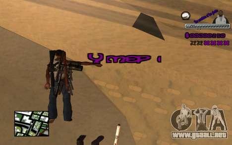 С-HUD Ghetto para GTA San Andreas sucesivamente de pantalla