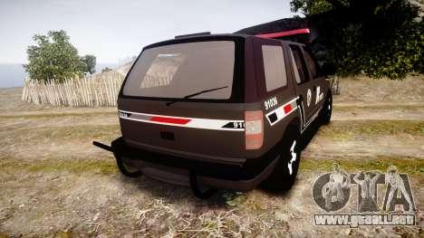 Chevrolet Blazer 2010 Rota Comando [ELS] para GTA 4 Vista posterior izquierda