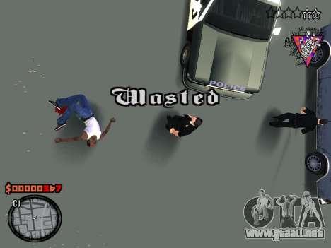 C-HUD Style para GTA San Andreas quinta pantalla