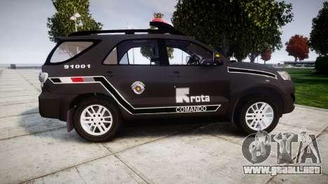 Toyota Hilux SW4 2015 ROTA [ELS] para GTA 4 left