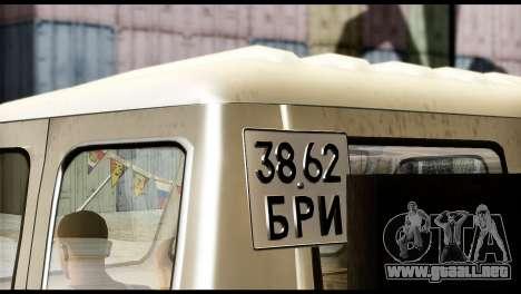 MAZ 504 para GTA San Andreas vista posterior izquierda