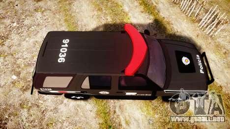 Chevrolet Blazer 2010 Rota Comando [ELS] para GTA 4 visión correcta