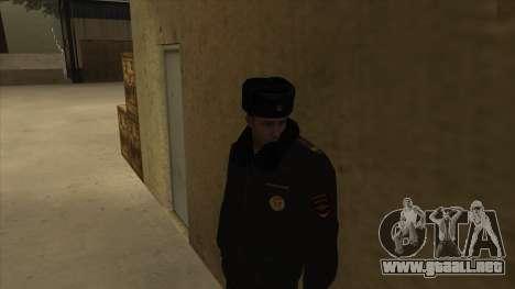 La policía rusa de invierno de la forma para GTA San Andreas tercera pantalla