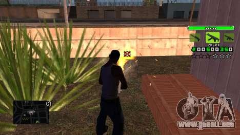 Light Green C-HUD para GTA San Andreas tercera pantalla