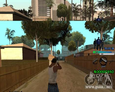 C-HUD Rifa para GTA San Andreas sucesivamente de pantalla