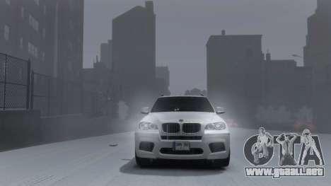 BMW X5M 2011 para GTA 4 Vista posterior izquierda