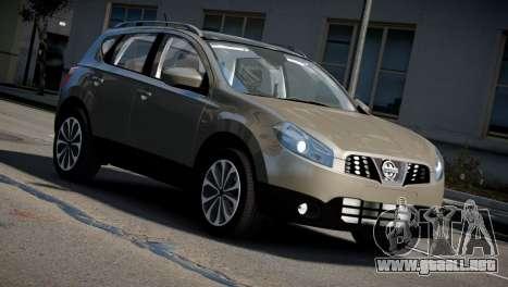 Nissan Qashqai 2011 para GTA 4 visión correcta