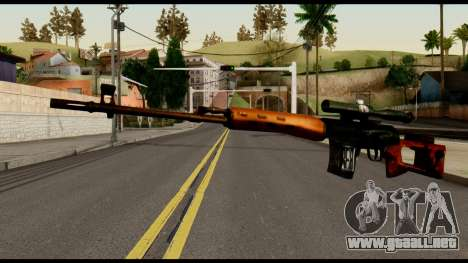 SVD from Metal Gear Solid para GTA San Andreas