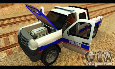 Ford Ranger 2011 Policia Bonaerense para la visión correcta GTA San Andreas