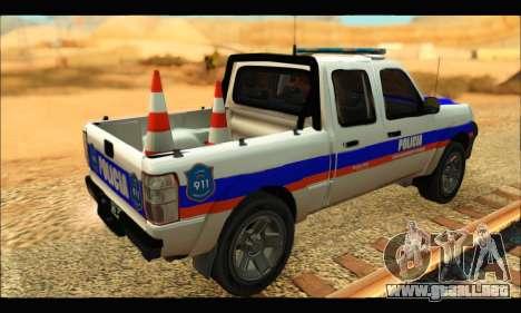 Ford Ranger 2011 Policia Bonaerense para GTA San Andreas left