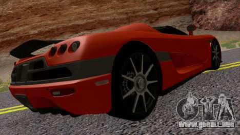 Koenigsegg CCX 2006 Road Version para la visión correcta GTA San Andreas