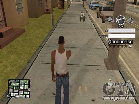 C-HUD Gray para GTA San Andreas segunda pantalla