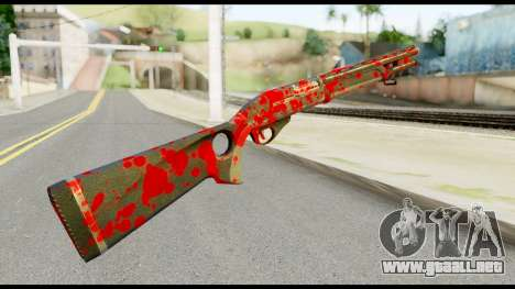 Combat Shotgun with Blood para GTA San Andreas segunda pantalla
