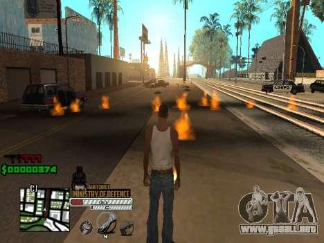 C-HUD Air Force para GTA San Andreas sucesivamente de pantalla