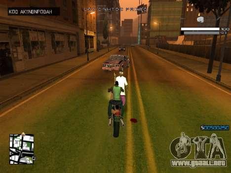 Simple C-HUD para GTA San Andreas sucesivamente de pantalla
